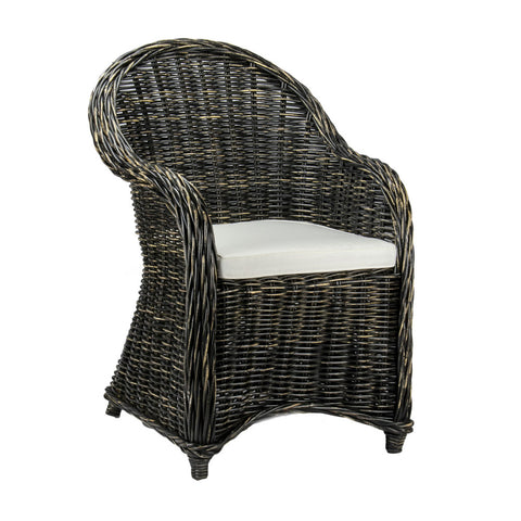 San Lucas Armchair Distressed Black