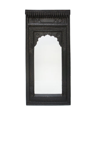 Sai Wooden Mirror Matt Black