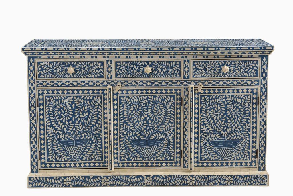 Jasmine Bone Inlay Sideboard Blue