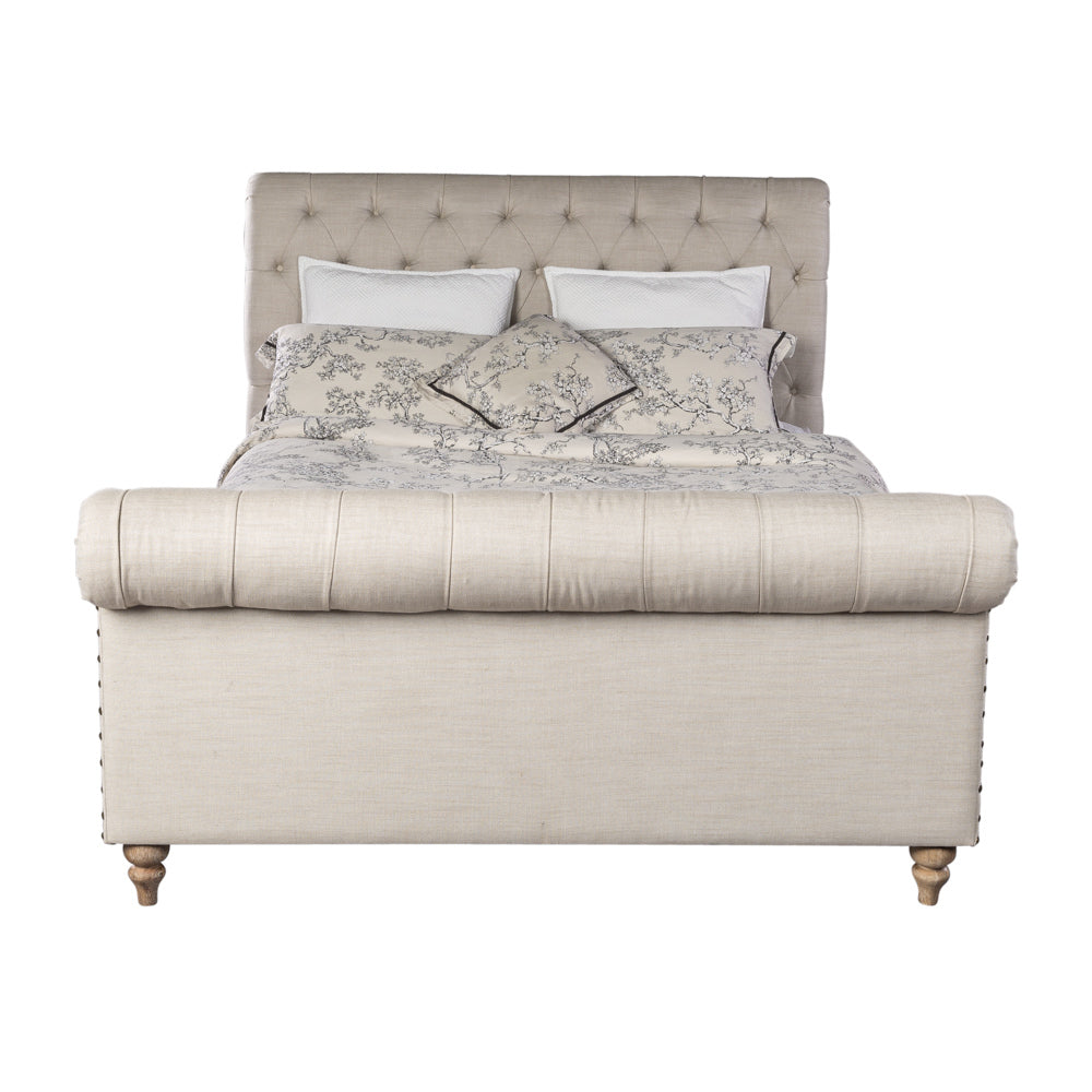 Empire Chesterfield Bed King Taupe Interiors Online