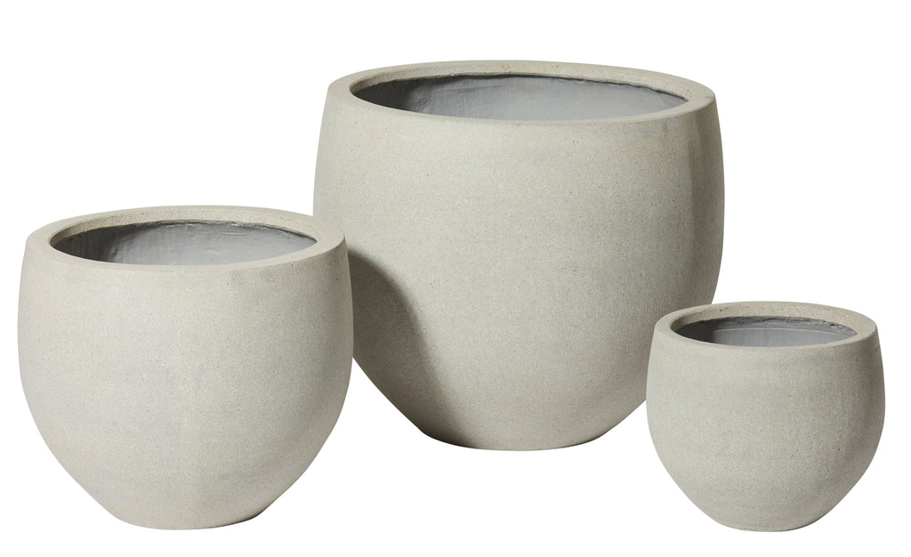 Angus Planter Set/3 Light Grey