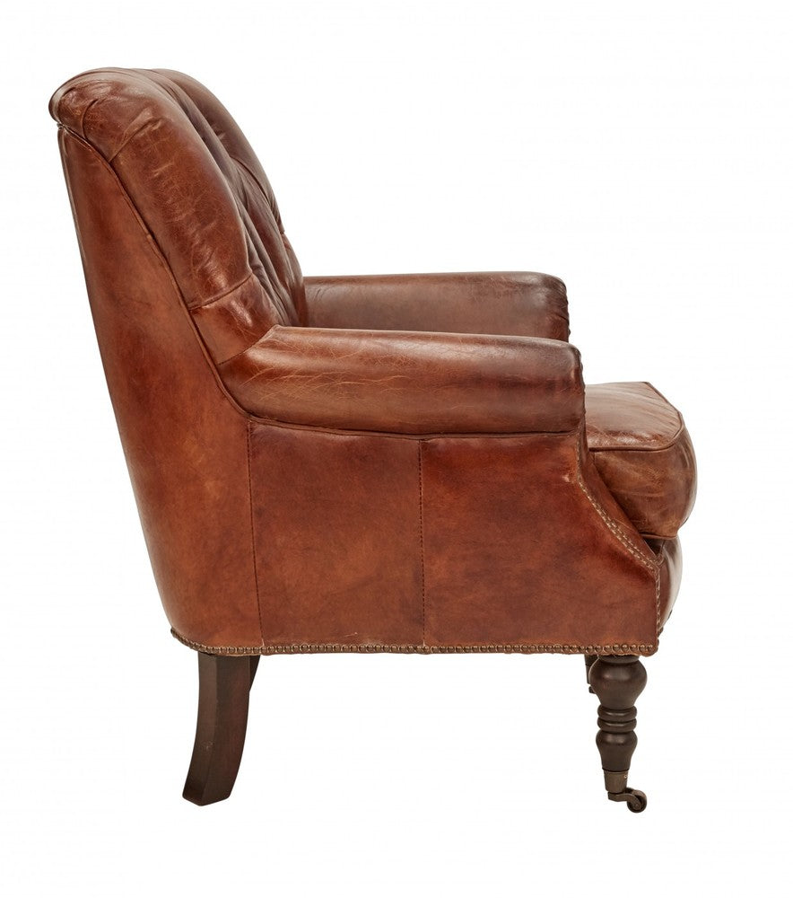 Vintage Leather Harper Armchair