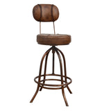 Loft Wind Up Leather Bar Stool