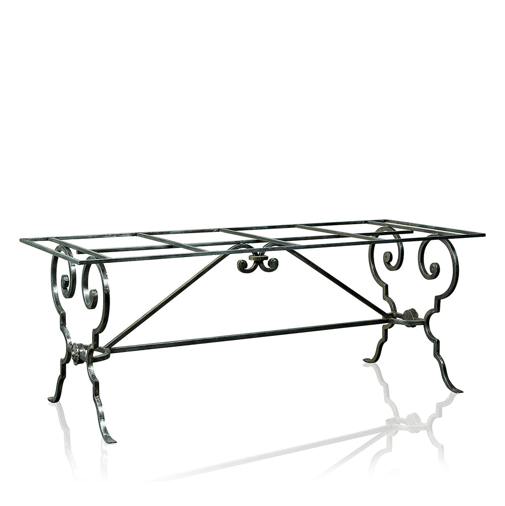 Lutece Wrought Iron Outdoor Dining Table with GRC Top