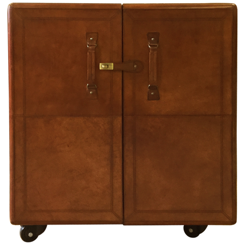 Patrick Leather Bar Cabinet