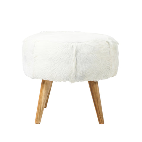 White Goat Hair Stool