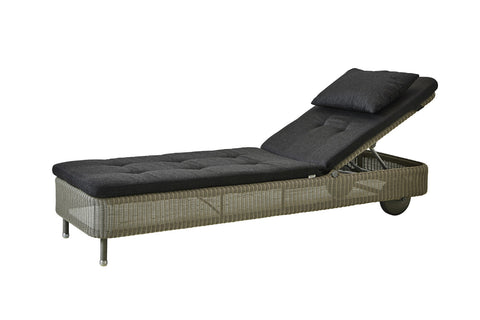 Presley Sunbed Black with Cushion Options