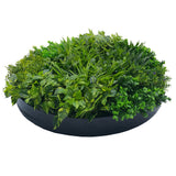 Artificial Indoor Green Wall Disc Art Dark Aloe Vera 100cm
