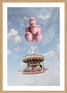 Floating Merry-go Round Print with Frame