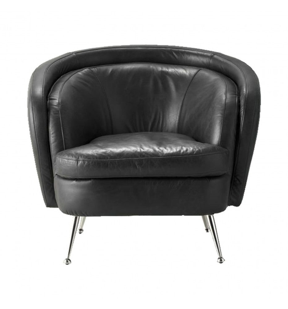 Dexter Tub Chair Black Leather