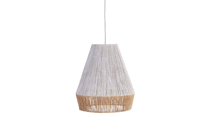 Levu Jute Pendant Shade White and Natural