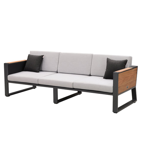 Bocage 3 Seat Sofa Charcoal