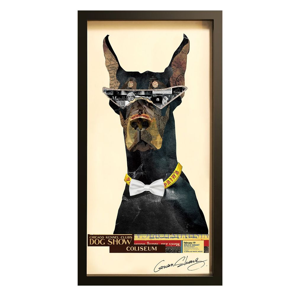 Collage Art Style File Doberman