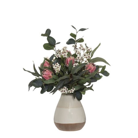 Protea Mix in Kahloo Vase Pink 53cmH