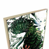 Velvet Feather Canvas Painting with Floating Frame
