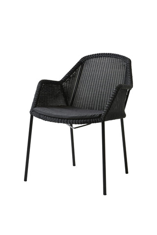 Breeze Lounge Chair Black with Cushion Options