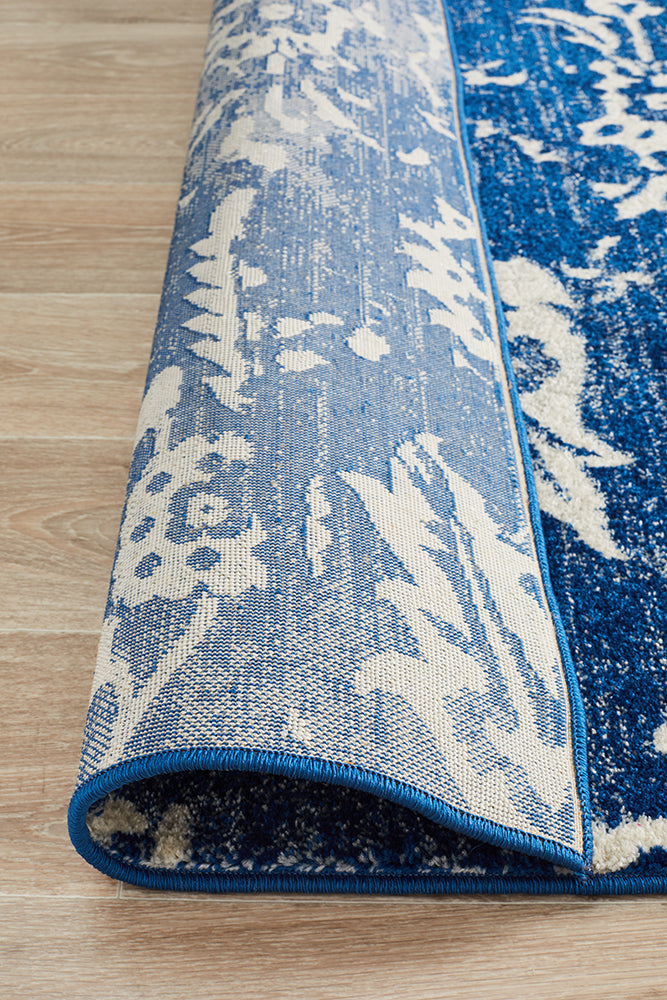 Donna Navy Transitional Rug