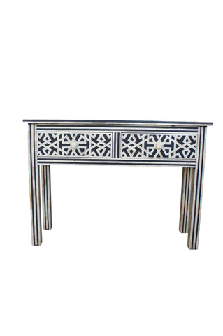 Black and White Bone Inlay Iberian Console