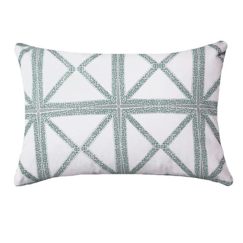 Mosaic Green Rectangular Outdoor Cushion
