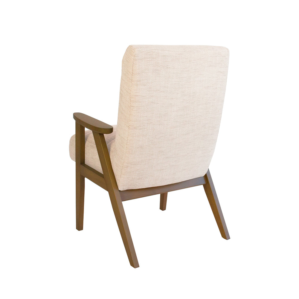 Brando Arm Chair Natural with Natural Frame