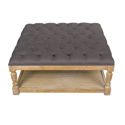 Tufted Coffee Table/Ottoman Espresso