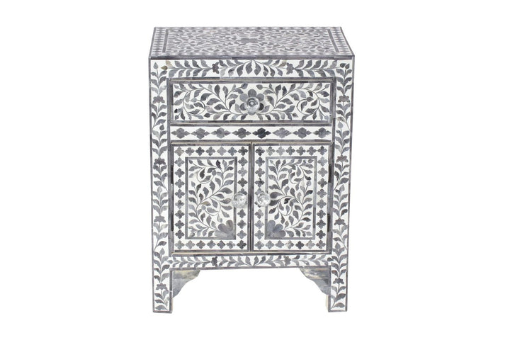 Bodhi Bone Inlay Bedside Grey