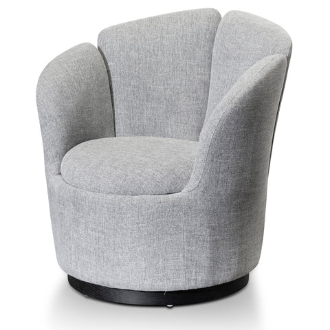 Lotus Lounge Chair Grey with Black Base