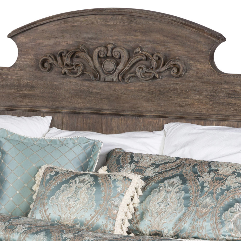 Grand Georgian Bed King Dark Oak Frame