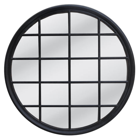 Statton Island Round Mirror Black