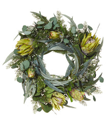 Protea Wreath Green