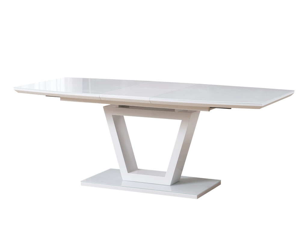 Romeo Extension Dining Table White