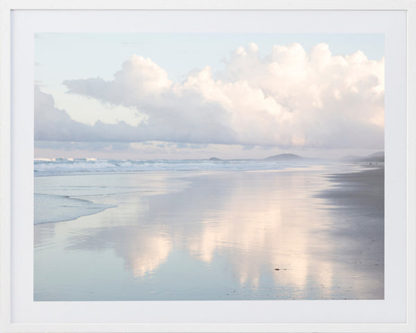 White Coastal Framed Photographic Print