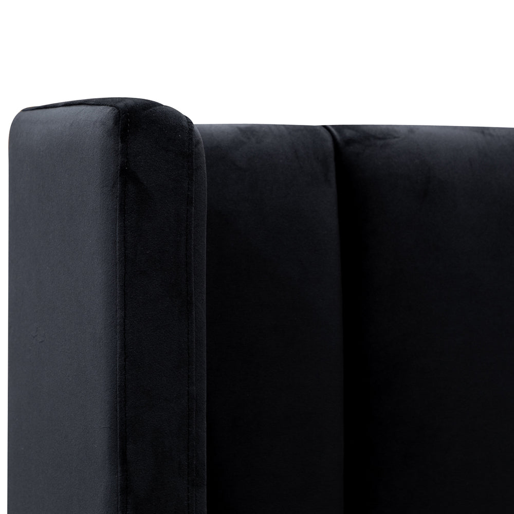 Harris Bed Black Velvet King