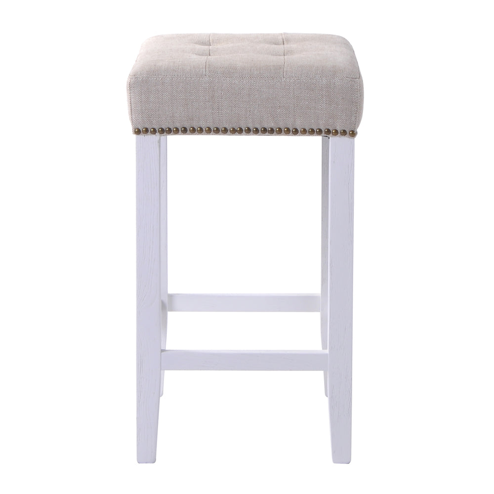 Eli Counter Stool Natural with White Frame