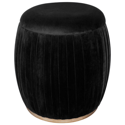Black Goat Hair Stool
