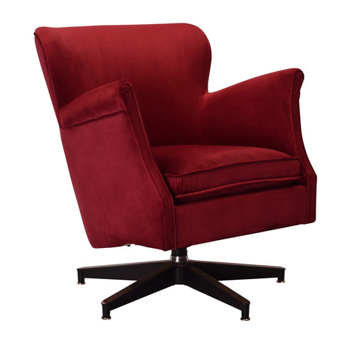 Revolver Swivel Armchair Crimson