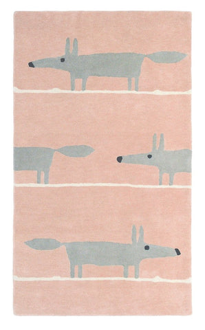 Scion Mr Fox Rug Blush
