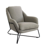 Tribeca Armchair Grey with Matte Black Frame