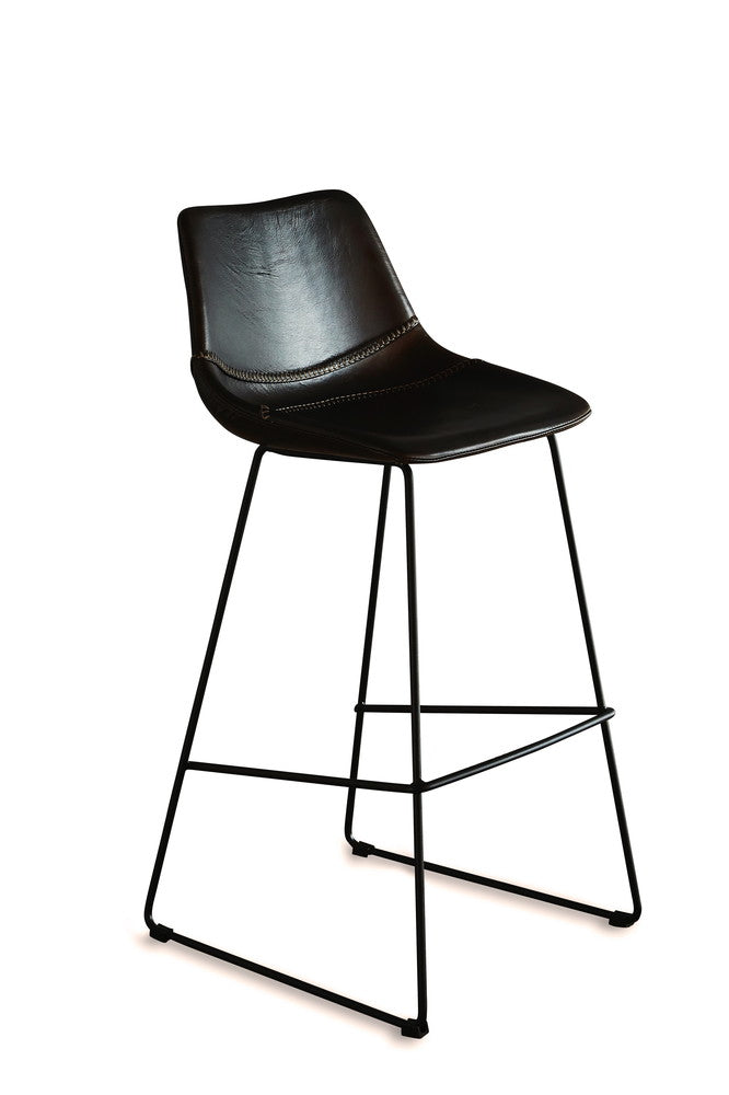 Don Leather Bar Stool Chocolate