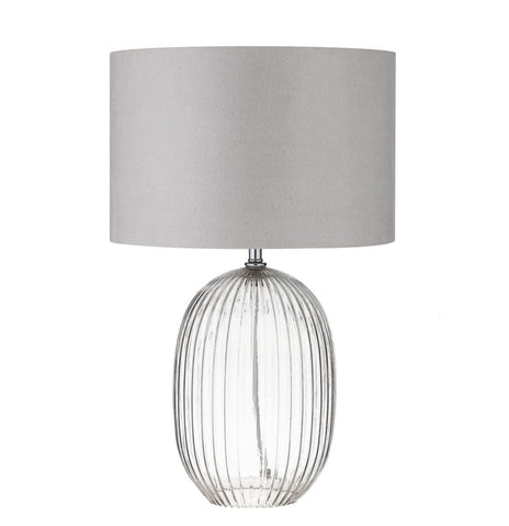 Morrison Table Lamps Clear Pair