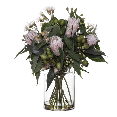 Protea Eucy Mix in Pail Vase Pink 61cmH