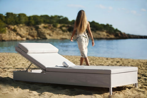 Rest Single Sunbed Grey