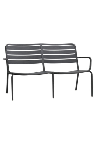 Halmstad Outdoor Love Seat Anthracite