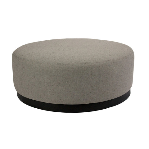 Tribeca Ottoman Clay with Dark Base Large