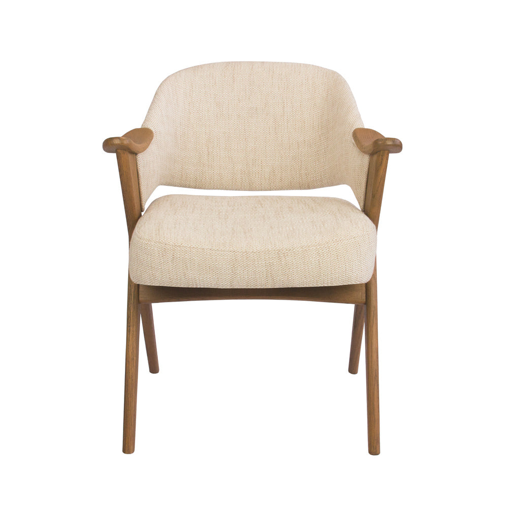 Vendela Arm Chair Natural with French Grey Wood Frame