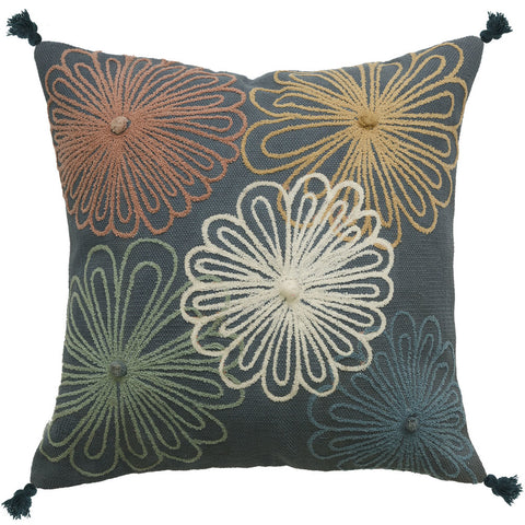 French Navy Velvet Cushion