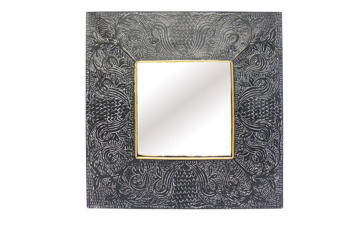 Sahara Pressed Metal Mirror Black