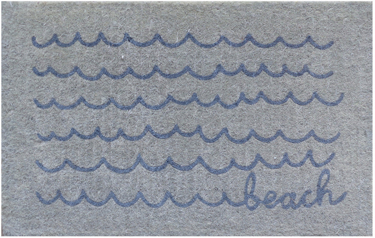 Beach Waves Regular Doormat