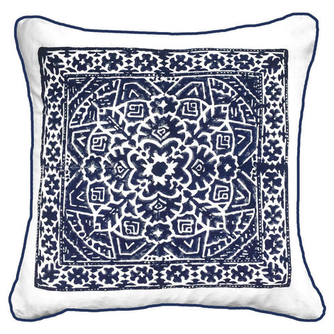 Kilim Print Sage Lounge Cushion