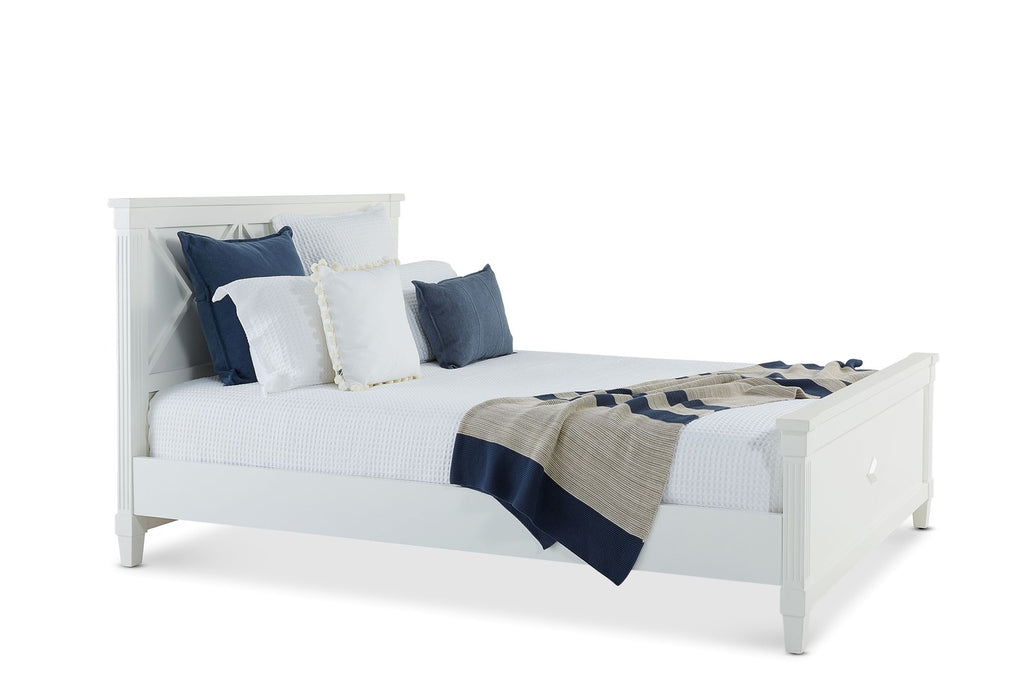 Long Beach Bed King White